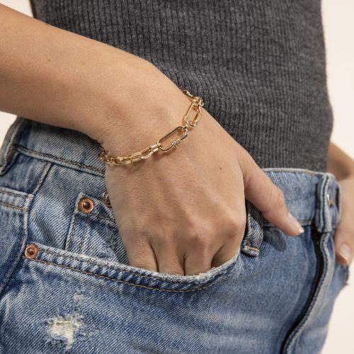 Bracelet doré Bar à chaines : Balaboosté bijoux fantaisie et accessoires tendance.