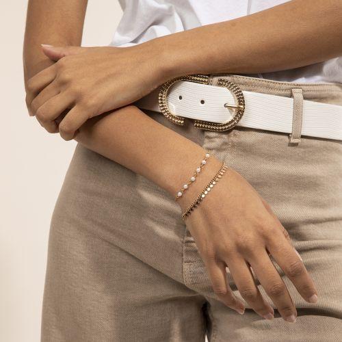 Set de bracelets doré New Pearl : Balaboosté bijoux fantaisie et accessoires tendance.