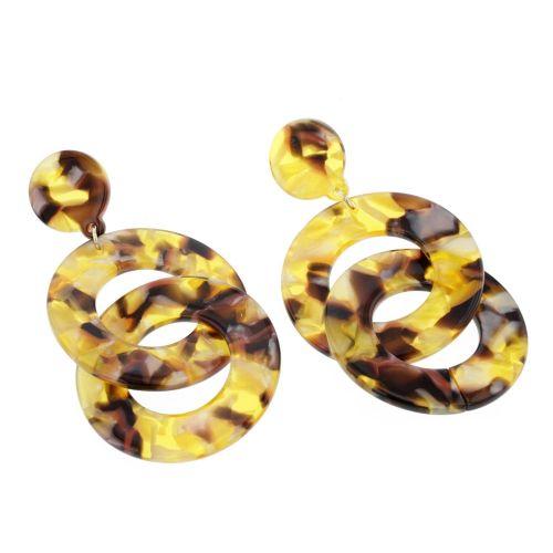 Boucles d'oreilles pendantes jaunes Ginger Bread