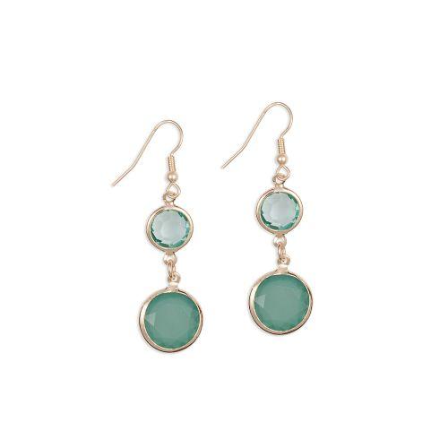 Boucles d'oreilles pendantes vertes Jardin De Toscane