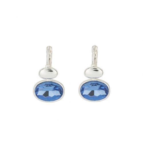 Boucles d'oreilles bleues Romantic Shell