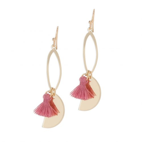Boucles d'oreilles pendantes roses Terrazzo