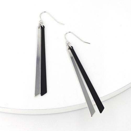 Boucles d'oreilles pendantes noires City Noir