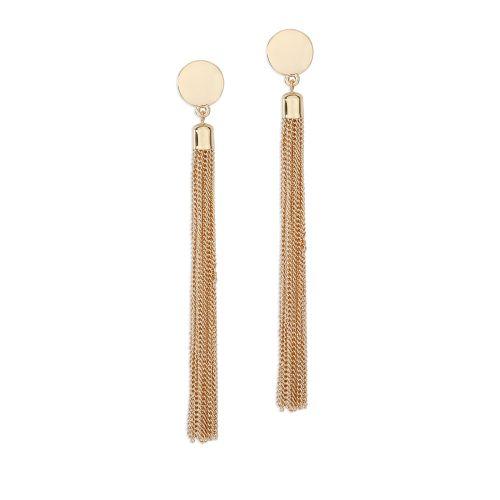 Boucles d'oreilles pendantes dorées Blossom Party