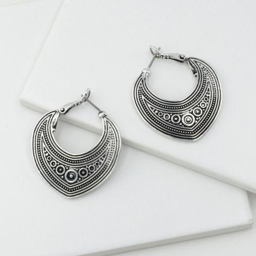Boucles d'oreilles pendantes argentées