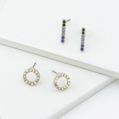 Set de boucles d'oreilles dorées All That Glitter