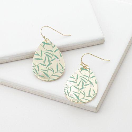 Boucles d'oreilles pendantes vertes