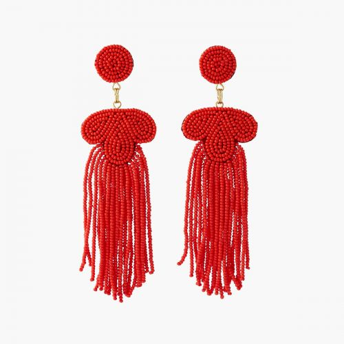 Boucles d'oreilles pendantes rouges it touch