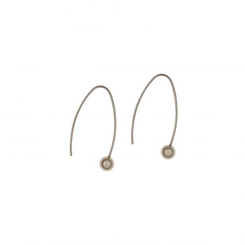 Boucles d'oreilles pendantes argentées Silver touch