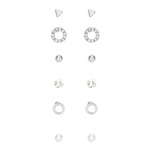 Set de boucles d'oreilles argenté Silver touch