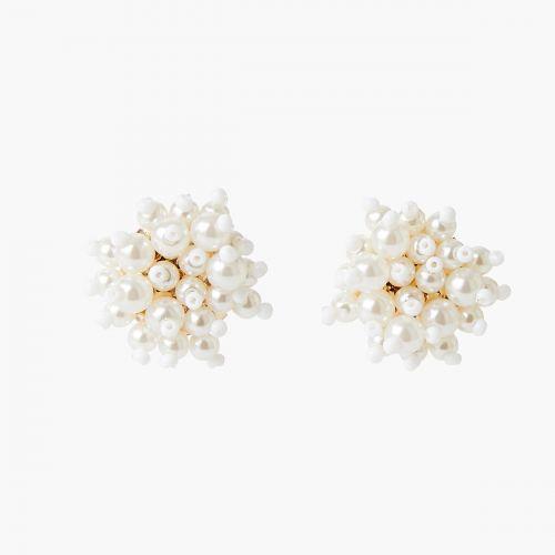Boucles d'oreilles grappes perles d'imitation Essentiel