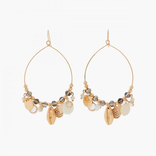 Boucles d'oreilles pendantes dorées Essentiel