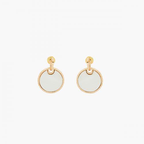 Boucles d'oreilles pendantes dorées Fès