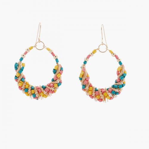 Boucles d'oreilles multicolores Colorfull