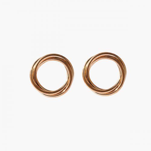 Puces d'oreilles dorées Metallic style