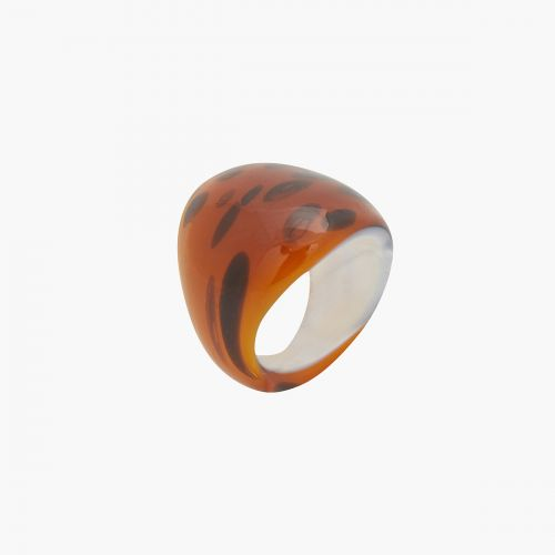 Bague Neo Ecaille marron