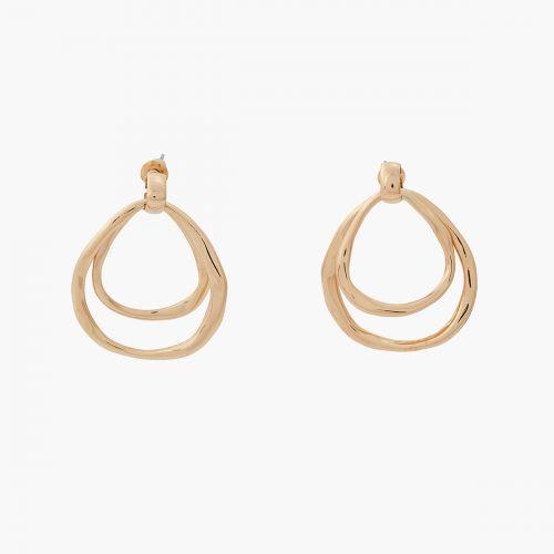 Boucles d'oreilles pendantes dorées Sunset bloom