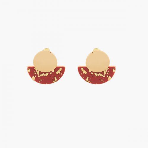 Boucles d'oreilles pendantes dorées Athènes