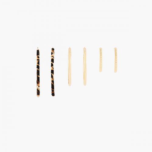 Set de créoles doré Safari Chic