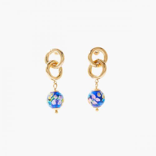 Boucles d'oreilles pendantes dorées Cambridge