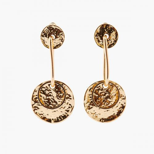 Boucles d'oreilles pendantes dorées Iconic B.O