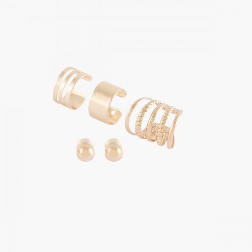 Set de bijoux d'oreilles doré Copenhague