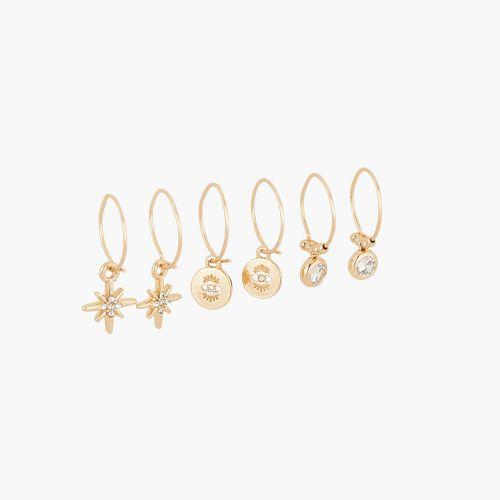 Set de créoles doré Neo Precious