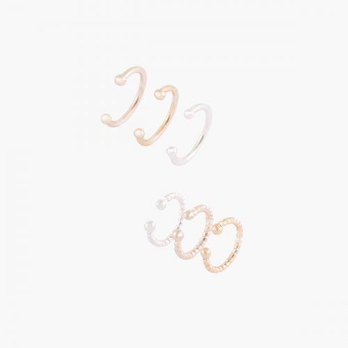 Set de bijoux d'oreilles argenté Silver touch