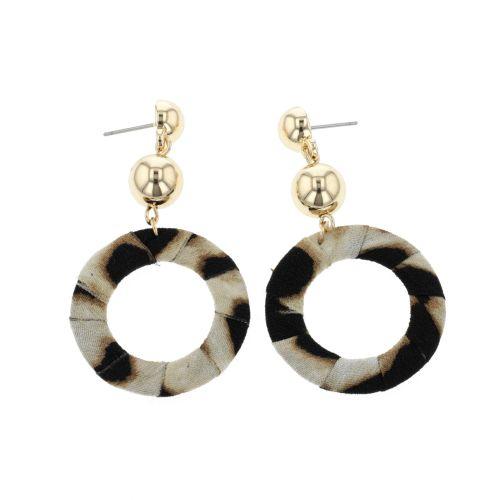 Boucles d'oreilles pendantes dorées Safari Chic