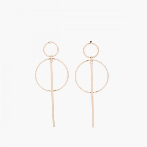 Boucles d'oreilles pendantes dorées Copenhague