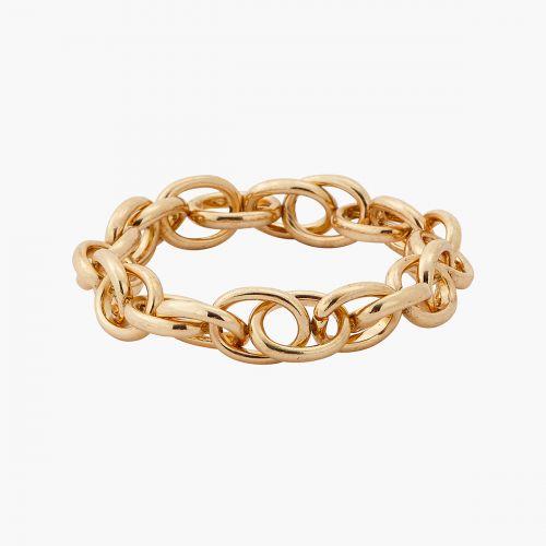 Bracelet élastique Athènes maillons dorés