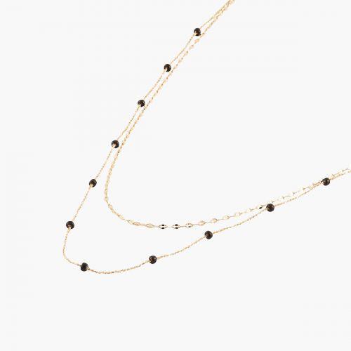 Collier deux rangs Celestial chaîne émaillée et dorée