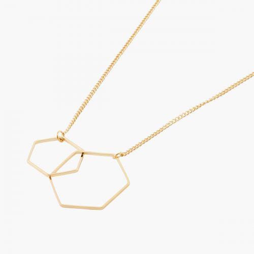 Collier doré Copenhague géométriques