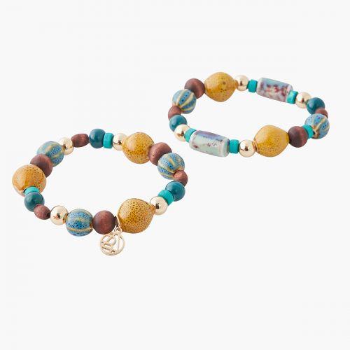 Set de bracelets doré Céramique