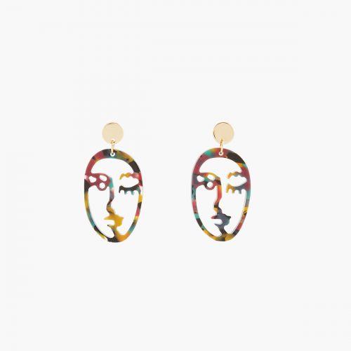 Boucles d'oreilles pendantes jaunes Iconic B.O