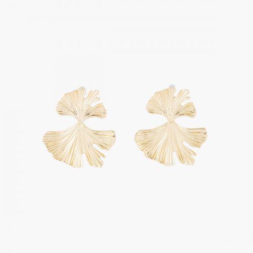 Boucles d'oreilles pendantes dorées Bali
