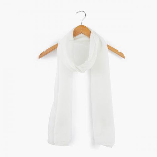 Foulard blanc à paillettes