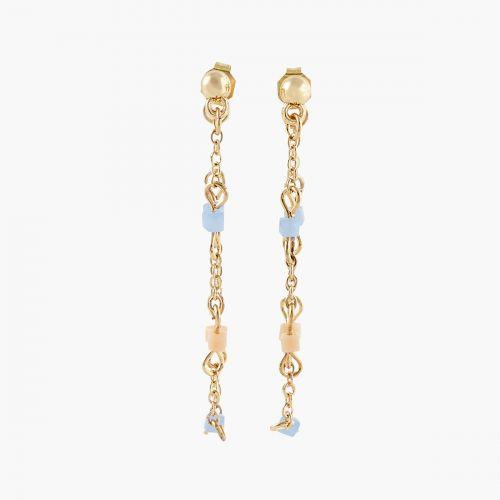 Boucles d'oreilles pendantes dorées Colorfull