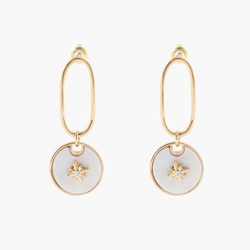 Boucles d'oreilles Coquillage Goa dorées