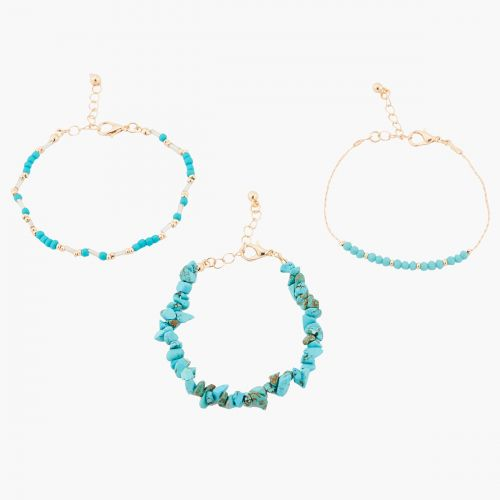 Set de bracelets bleu Blue mood