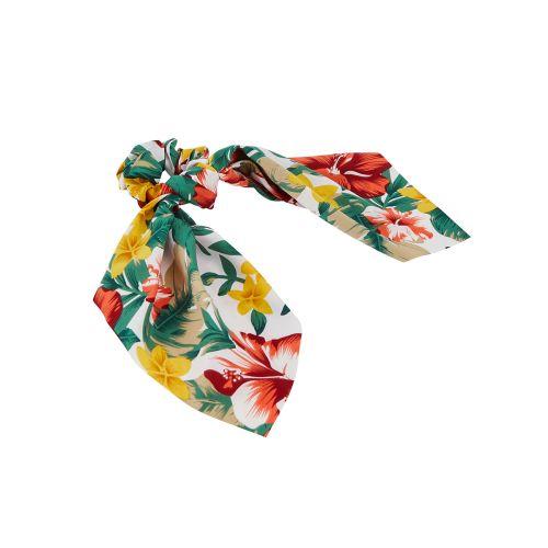 Chouchou foulard vert Extra touch florale