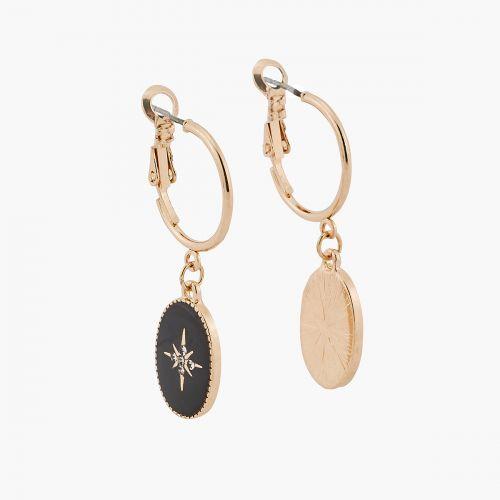 Boucles d'oreilles pendantes dorées Jaipur