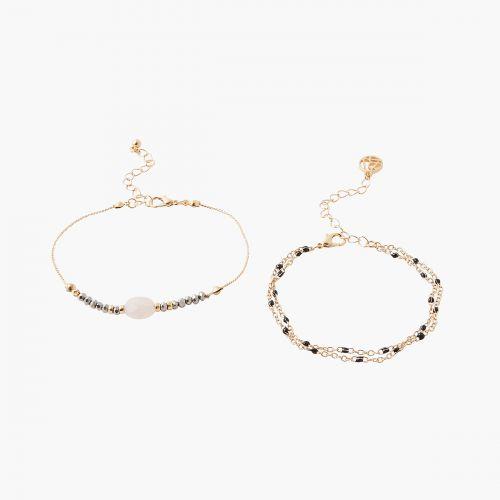 Set de bracelets rose Jaipur