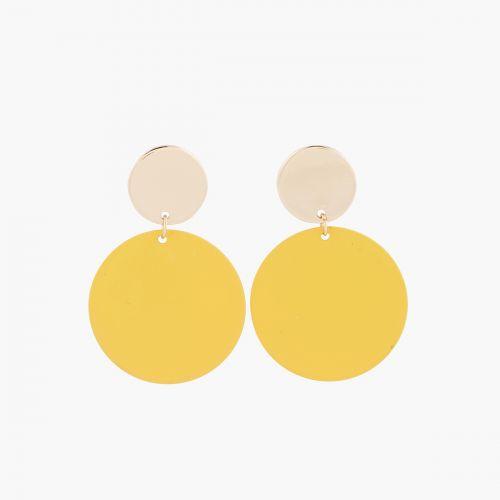 Boucles d'oreilles dorées Yellow Sunshine