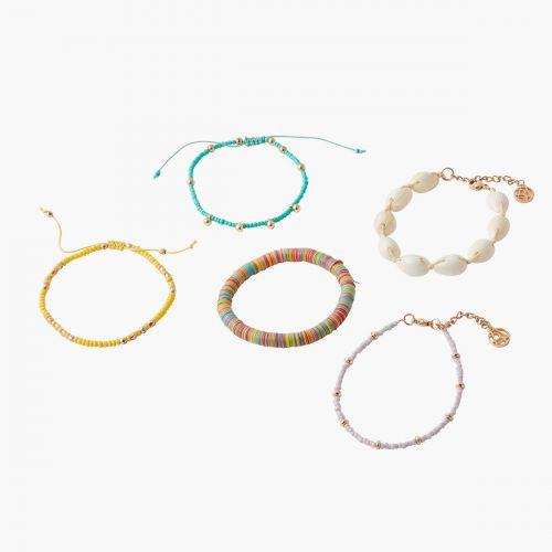 Set de 5 bracelets multicolore Kampala