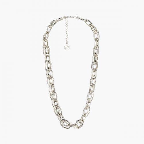 Gros collier argenté Metallic style