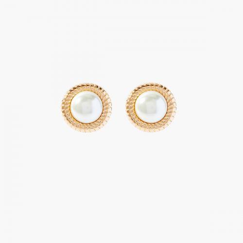 Clips d'oreilles dorés New Pearl
