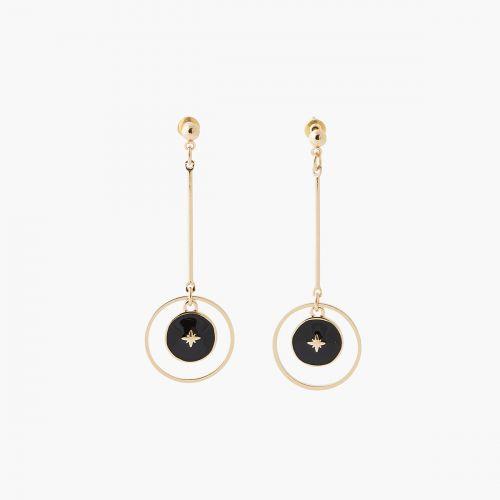 Boucles d'oreilles pendantes dorées Celestial