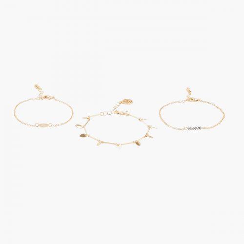 Set de bracelets dorés Cambridge