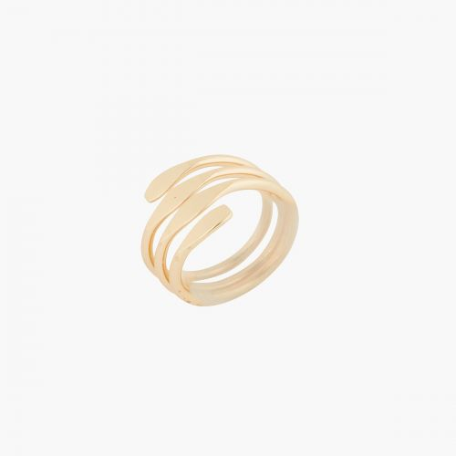 Grosse bague dorée Metallic style